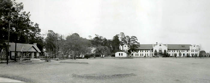 The House in the Woods with Converse Hall in Background